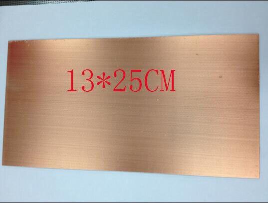Envío Gratis 13*25CM1.6 espesor de una sola cara laminado de fibra de vidrio FR-4 millones de placa de circuito vacío