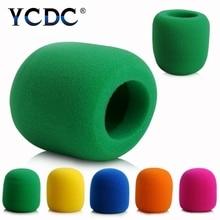 YCDC أسود أخضر أحمر أرجواني أزرق يده مرحلة رغوة الكرة من نوع هيئة التصنيع العسكري مكافحة اللعاب الزجاج الأمامي غطاء ميكروفون للكاريوكي