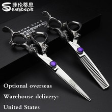 6 inch hairdresser professional scissors Sharonds Japan 440c barber shop scissors hair scissors overseas warehouse