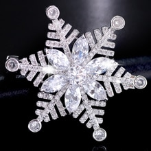 Blanc flocon de neige broches broches hiver mariage Bouquet cristal broche robe ceinture broche mariée broche bijoux femmes cadeau de noël