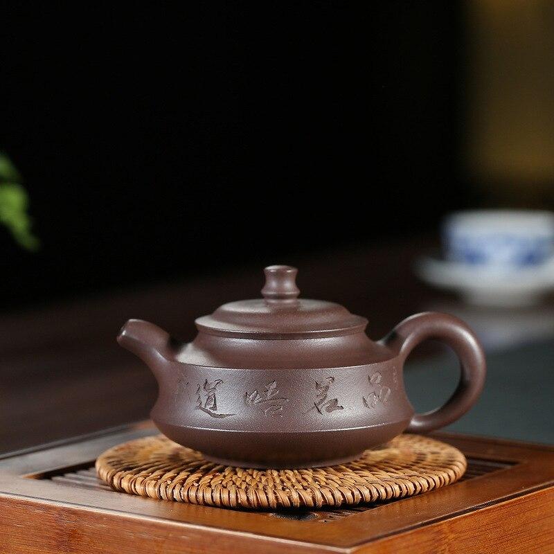 Yixing Ore Mine Purple Sand Pot Genuine Purple Mud Zhou Pan Pot Kung Fu Teaware Household Teapot Office Gift