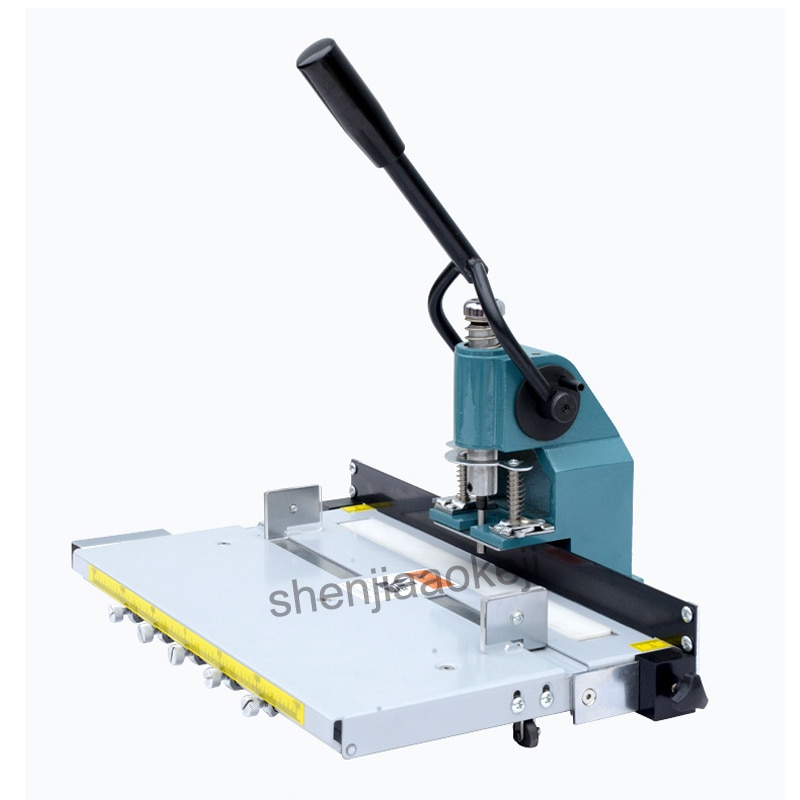 ماكينة حفر SL-8300 دليل ماكينة ثقب اللكم سمك 3 سنتيمتر مع منصة محمولة ماكينة ثقب