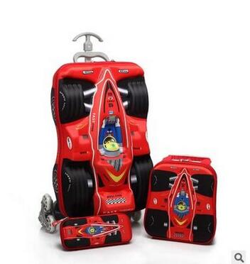 Cubierta de carrito para niño, bolso rodante con ruedas, Maleta de viaje 3D para niños, carrito, mochila escolar, mochilas con ruedas para chico