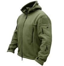 Veste polaire tactique militaire hommes armée américaine Polartec coupe-vent vêtements homme Multi poches survêtement à capuche manteau pour hommes