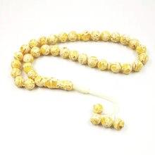 Parfum Tesbih Ambers couleur jaune Tasbih de lhomme perles de prière islamique Sobh Mulsim Aroma Bracelets