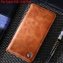 Coque pour cubot x18 plus housse en cuir de luxe avec fente pour carte de support pour Cubot x18 plus coque de téléphone funda sans aimants capa