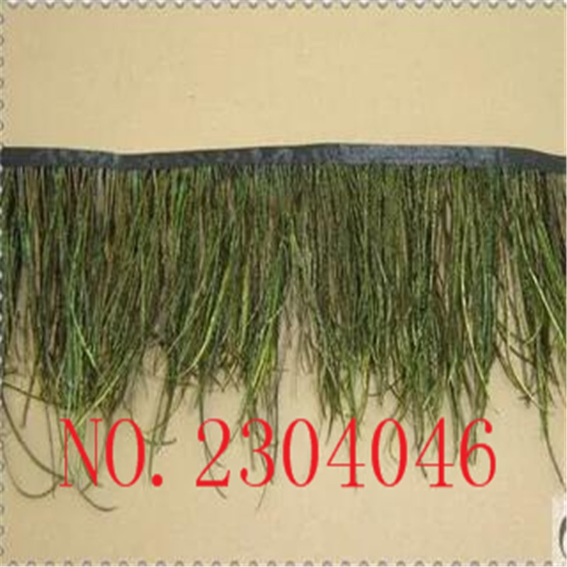 2 yardas de plumas de pavo real Natural recortado borde 10-15 cm alto Pavo Real seda borde pluma lateral ropa