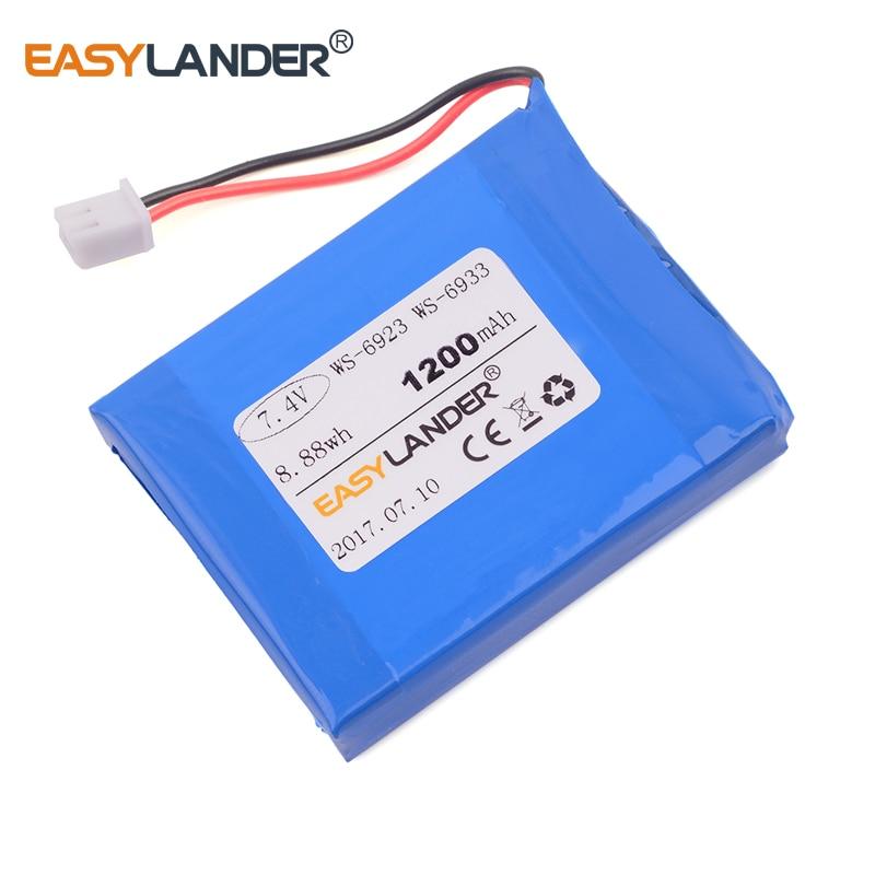 Литий-полимерный литий-ионный аккумулятор большой емкости 7,4 В 1200 мАч для спутникового finder satlink WS-6933 WS-6923 WS6923 WS6933