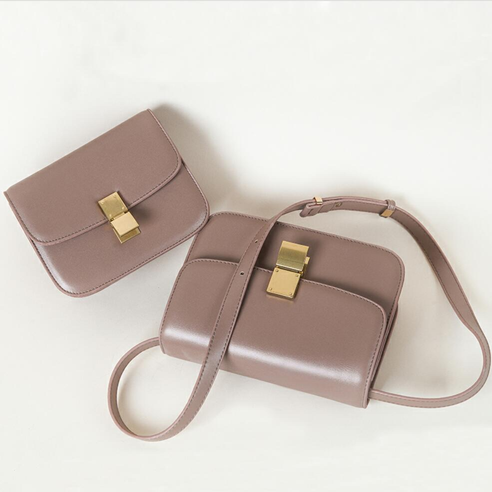 Luxury Brand Handbag 2020 New Fashion Simple Square bag Quality PU Leather Women's Designer Handbag Lock Shoulder Messenger bags