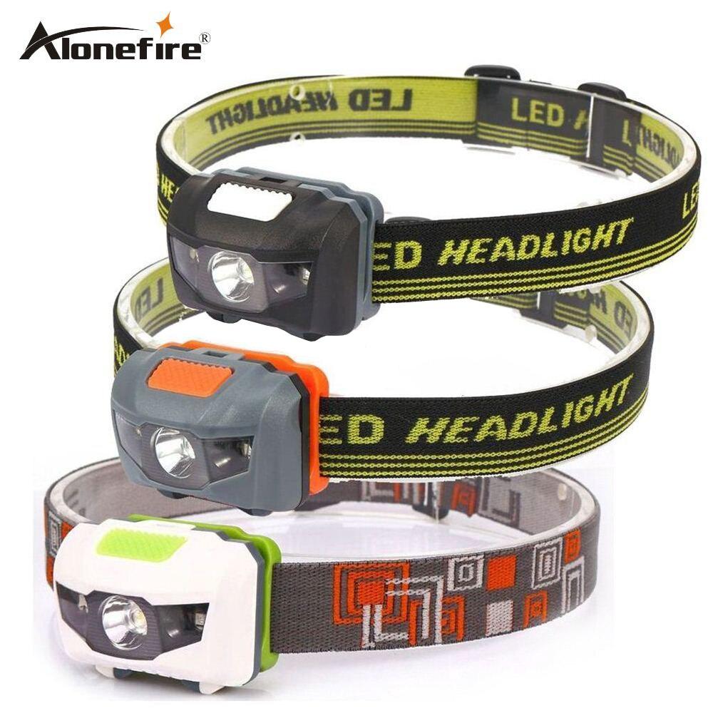 AloneFire HP30 4 מצב קל משקל עמיד למים פנס CREE LED קמפינג ראש מנורת Proyector ריצה ראש אור פנס AAAbattey