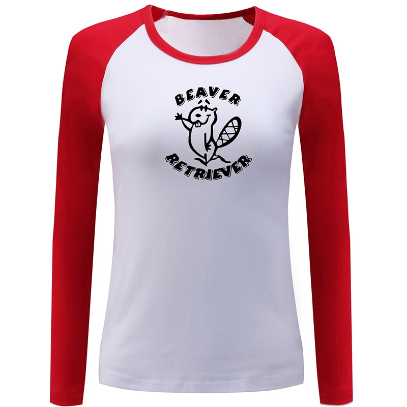 Bigfoots pie ojos grandes búho cerveza dentro de Beaver Retriever diseño mujeres señoras impresión camiseta gráfica Camiseta de algodón de manga larga