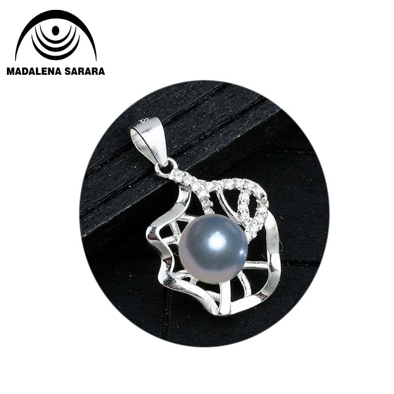 MADALENA SARARA Plata de Ley 925 y 8mm AAA perla de agua dulce colgante collar de moda