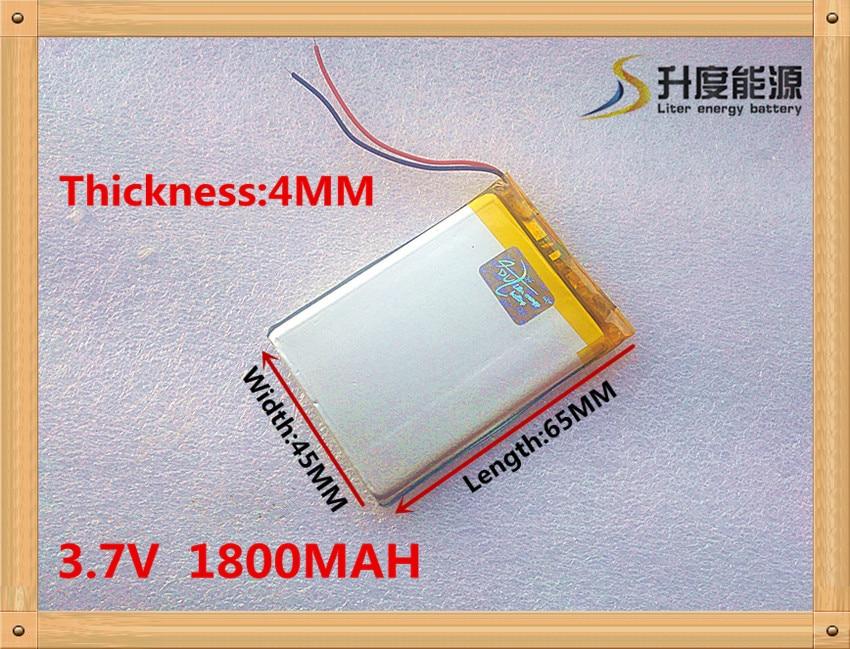 Livraison gratuite 3.7 V 1800 mah e-lecteurs 404565 machine dapprentissage électronique 3.7 V batteries au lithium polymère