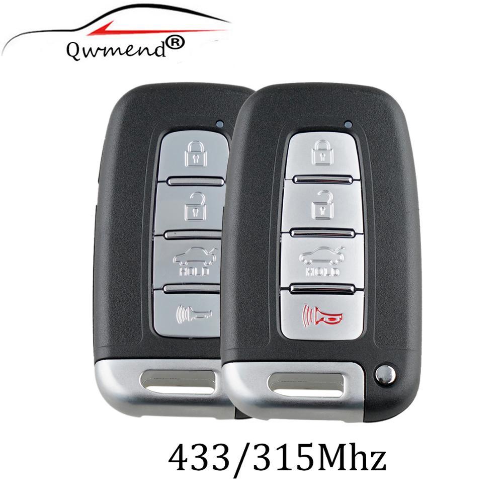 4 кнопки дистанционного Smart Key 315/433 МГц для HYUNDAI SONATA GENESIS EQUUS VELOSTER 2009 2010 2011 2012 2013 2014 2015 SY5HMFNA04