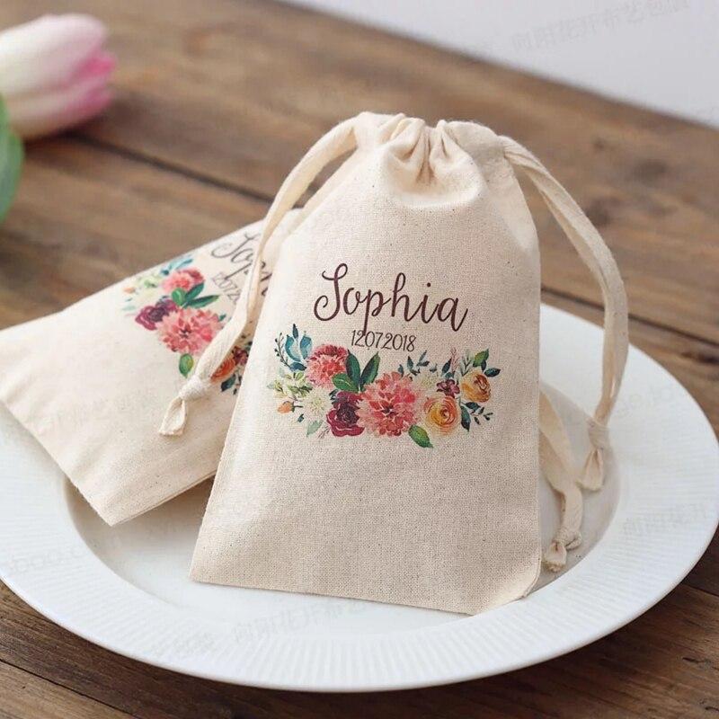 Sacs à bonbons avec logo personnalisés   Sacs à bonbons personnalisés, sac à bonbons chocolat pour fête danniversaire fiançailles, souvenirs de mariage