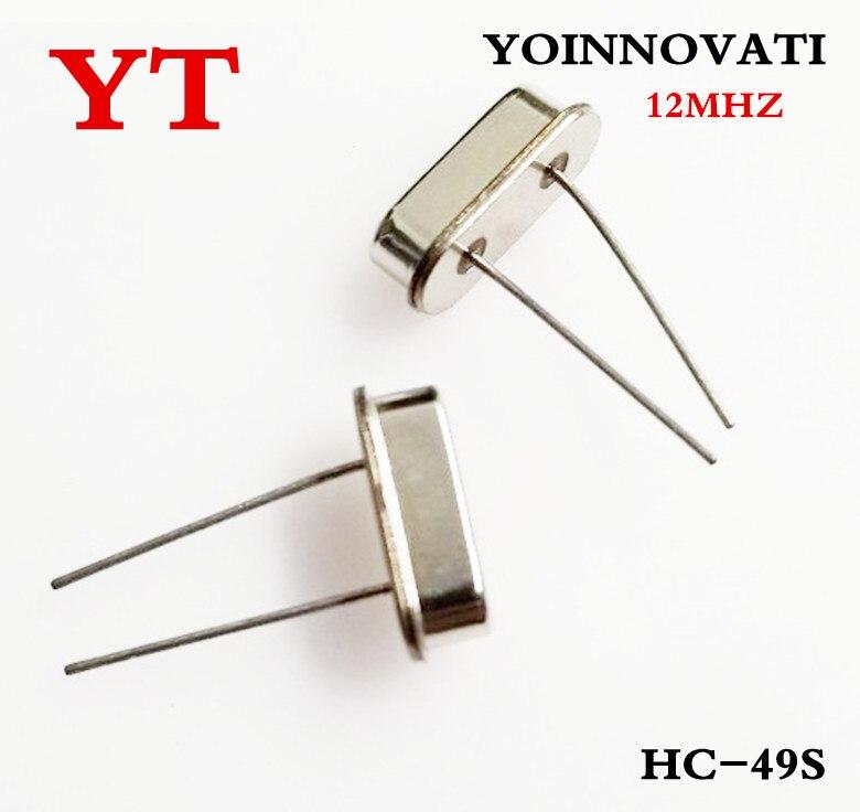משלוח חינם 100 יחחבילה HC-49S 12MHZ 12.000MHZ שעון מתנד/קוורץ קריסטל מוצרים ו-rohs הטוב ביותר באיכות