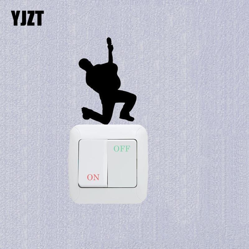 Pasión toca la guitarra pegatina para interruptor de vinilo pared pegatina de decoración para habitación 7SS0389