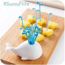 Children's Cute Fruit Fork Set Creative Fruit Sign Household Plastic Small Forks Kids Dessert Fork For Kitchen Supplies