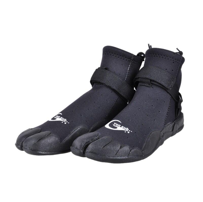Yon sub homem mulher neoprene mergulho botas anti-deslizamento de secagem rápida sapatos de surf snorkeling wading sapatos de pele de água preto