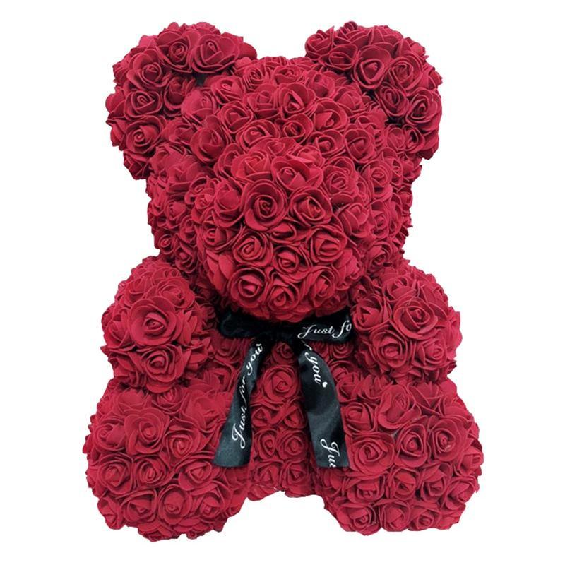 1 piezas flores artificiales 40cm de peluche oso novia aniversario Navidad Día de San Valentín regalo de boda para boda fiesta