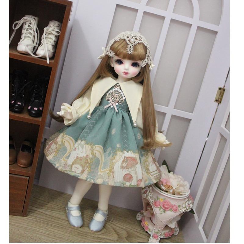 Doll clothes 1/6 doll dress noble princess dress for 1/6 1/4 BJD SD doll 1/6 Blyth doll accessories BJD dress 1/4