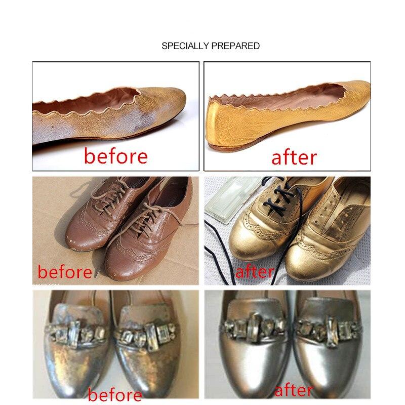 Reparación de laca de zapato de manchas de cuero metálico/agente teñido de cuero liso