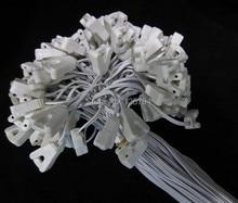 10 pcs/lot livraison gratuite 1.2 m long T8 T10 lightbox câbles une extrémité porte-lampe vieillissement crural ligne T8 Led tube connecteur fil