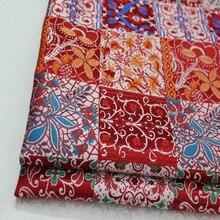 CF416 1Yard Florals Jacquard Silk Brocade Fabric For Qipao Mongolian Robe Decoration Fabric Chinese Style Seat Cushion Fabrics