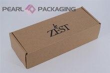 Boîte de vêtements ondulée imprimée personnalisée   Pour cadeau, écharpe, gants, soins personnels, paquet de 500 pièces