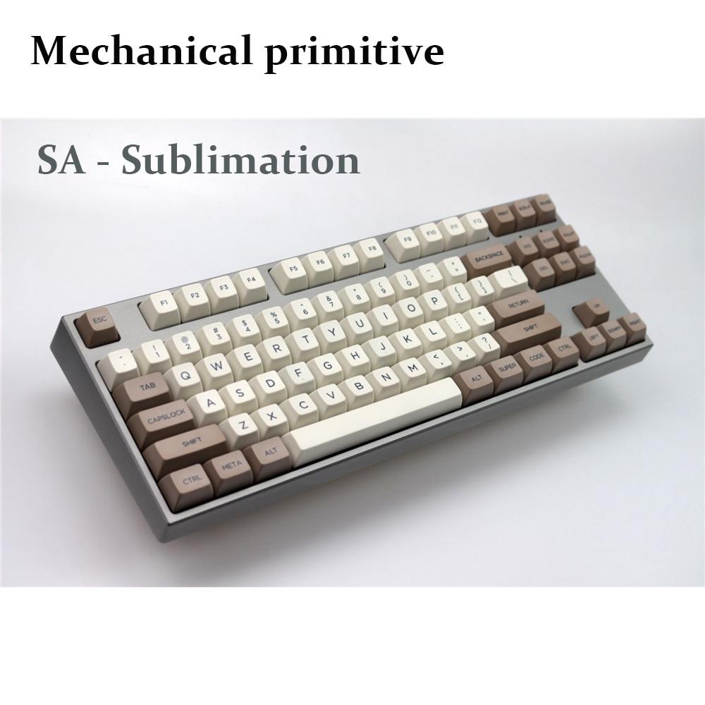 MP صبغ التسامي Keycap ريترو البيج 134 مفاتيح SA PBT مفاتيح الكرز MX التبديل كيكابس ل USB السلكية الألعاب الميكانيكية لوحة المفاتيح