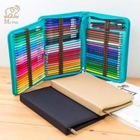 36/48/72 Holes Canvas Pencilcase Bag Profession Pen Box Penal for Boy Girl Art Marker Storage Pouch School Folding Pencil Case