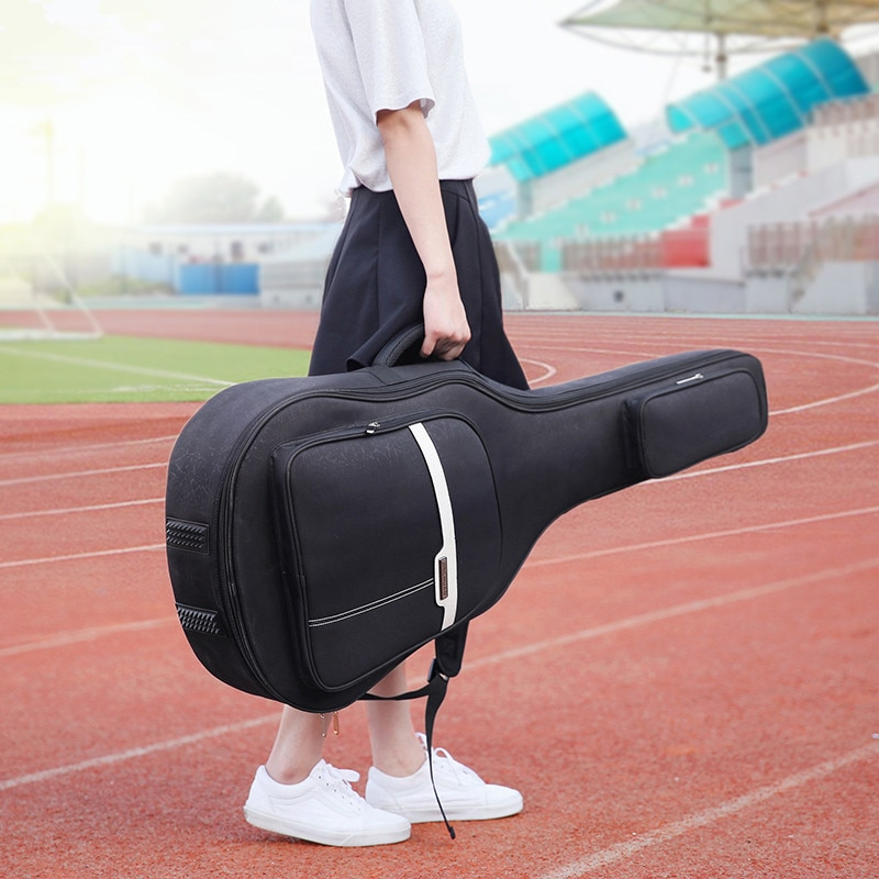 Fashion 40 Inch / 41 Inch Guitar Bag Carry Case Backpack Oxford Acoustic Folk Guitar Gig Bag Cover with Double Shoulder Straps trumpet gig bag box case backpack 600d water resistant oxford cloth with adjustable dual shoulder strap new arrival