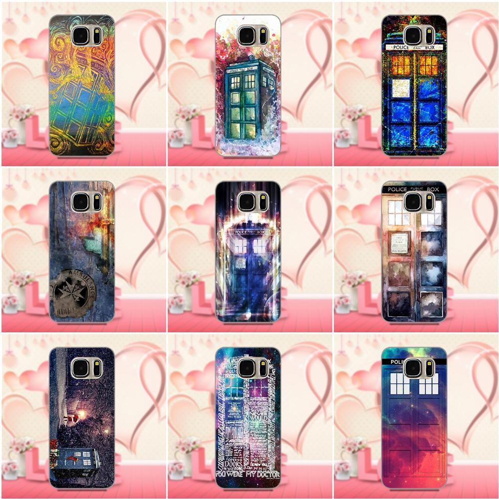 Caso macio Bonito Da Arte Tardis Doctor Who Em Para Apple iPhone 4 4S 5 5C 5S SE 6 6S 7 8 Plus X Para LG G3 G4 G5 G6 K4 K7 K8 K10 V10 V20