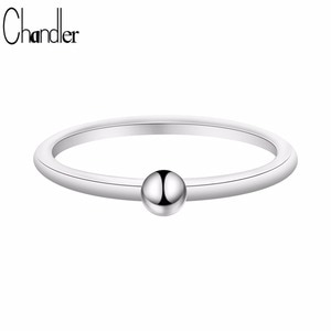 Chandler New Samll Bead Ring For Women Simple Little Cute Knuckle Toe Foot Rings Gold Color  Plated Casual Homme Bijoux