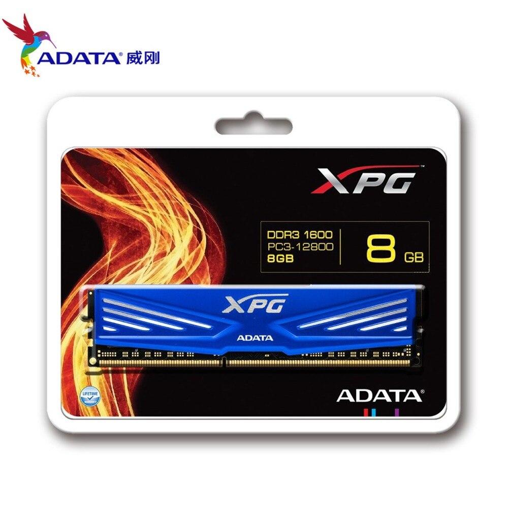 ADATA XPG V1 DARKBLUE DDR3 8GB 1600MHz (PC3 12800) Memory Modules Desktop PC (AX3U1600W4G11-RD)