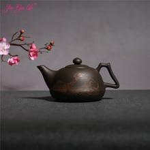 JIA-GUI LUO 600MLL Purple Clay yixing teapot  traditional chinese tea set  oolong tea Portable travel tea set  H027