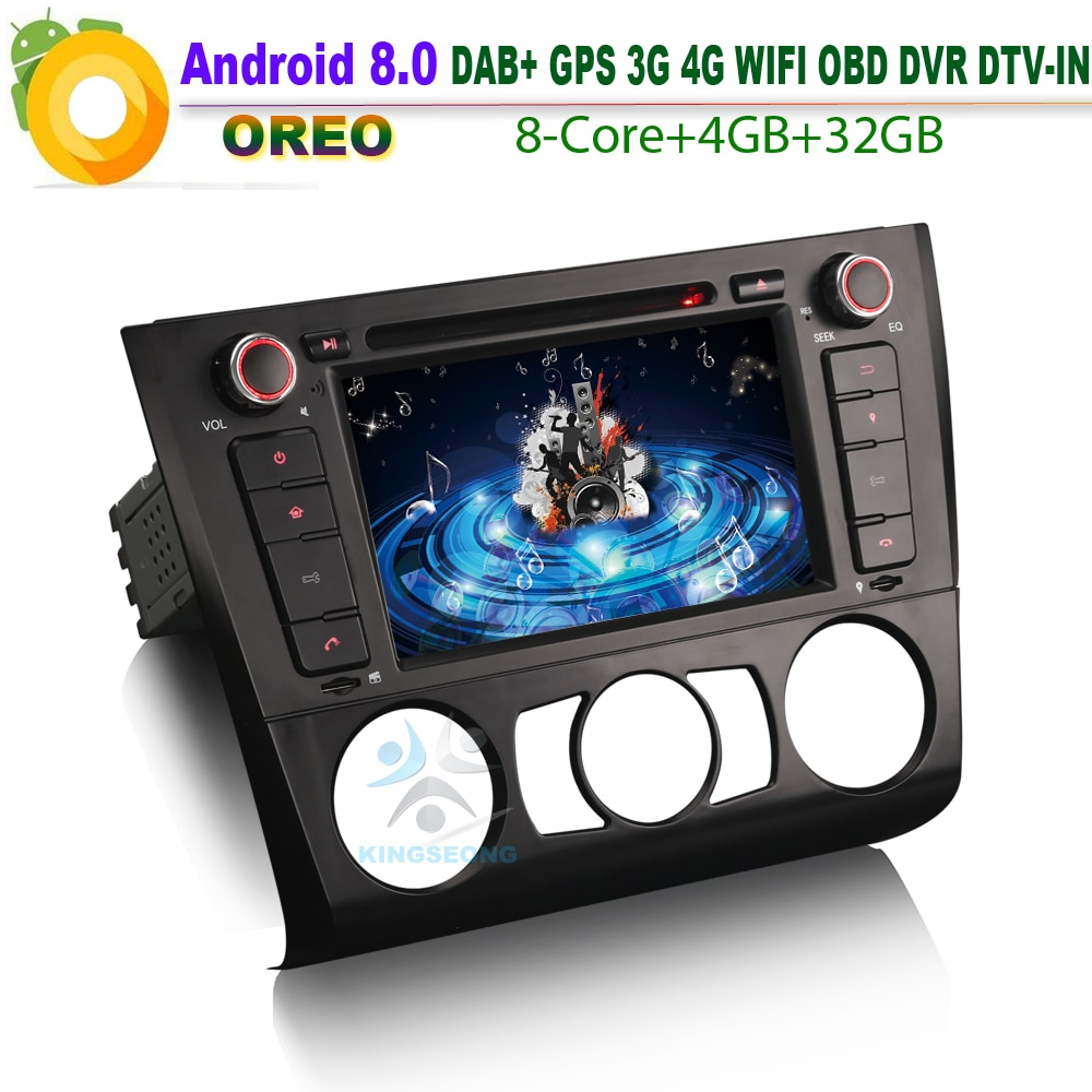 Android 8.0-DAB + DVD GPS SD   RDS BT, bluetooth USB, OBD, lecteur de CD de voiture BMW série 1 E81 E88 E82 coupé, Autoradio Convertible, WiFi 3G