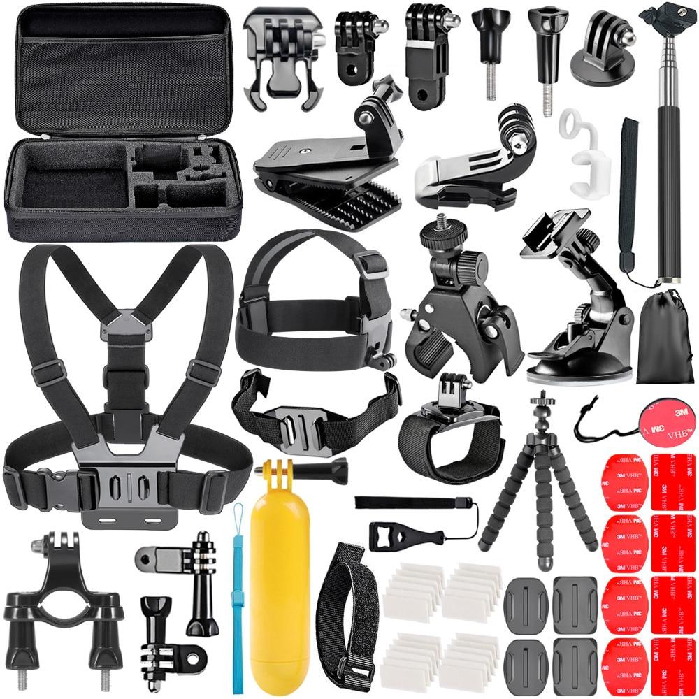 Набор аксессуаров для экшн-камеры Neewer, для sjcam SJ4000 5000 6000 DBPOWER AKASO APEMAN WiMiUS Rollei QUMOX Lightdow Campark