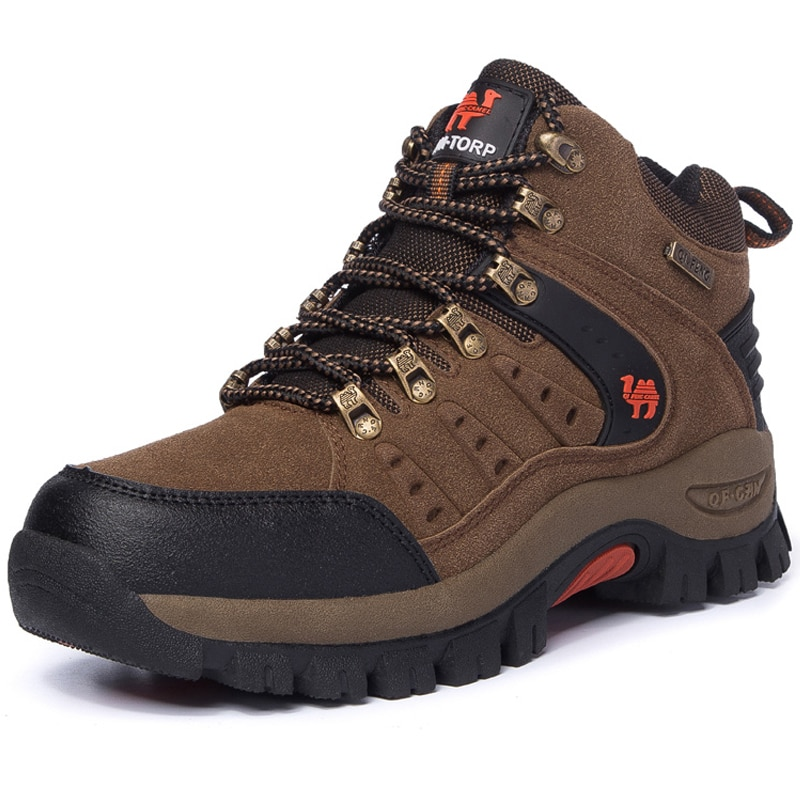 High Quality Men Hiking Shoes Thick Sole Rubber Walking Sneakers Top Male Sports Shoes Outdoor Men C