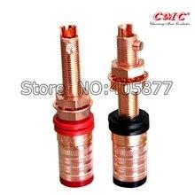 4 Uds CMC-838-L-CU-R Conductor de cobre puro poste de enlace largo HIFI altavoz Terminal