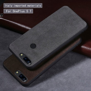 For OnePlus 5T phone case For OnePlus 5 Fur soft shell all inclusive Genuine Leather Brand 390-degree all-inclusive phone case