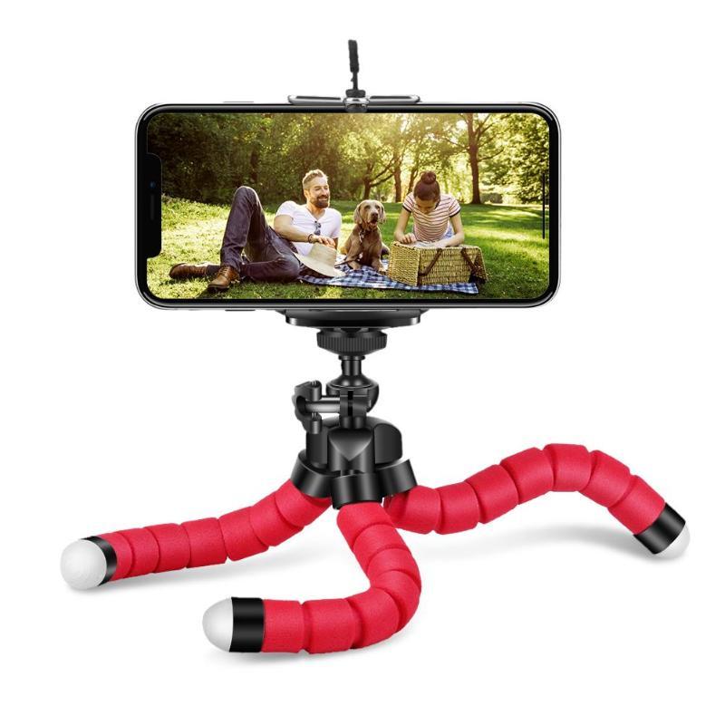 Suporte do telefone flexível esponja polvo tripé suporte selfie expansão suporte de montagem monopod estilo acessórios para o telefone móvel