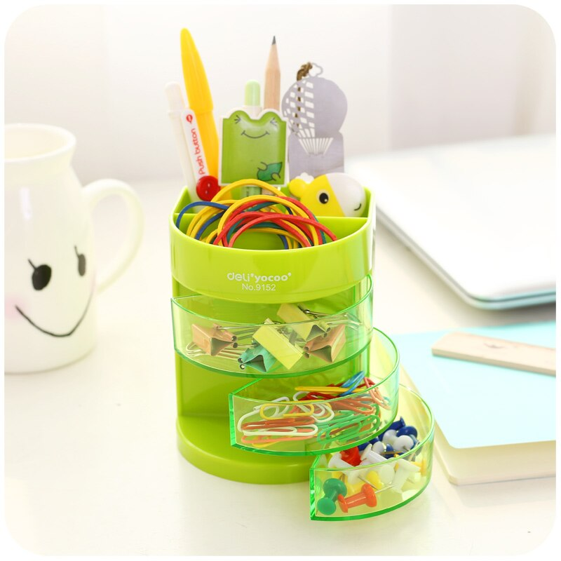 Lindo punto de color soporte para lápiz borrador de lápiz organizador de mesa papelería oficina accesorios suministros F983