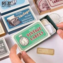60 teile/paket Vintage DIY Tagebuch Aufkleber Beschreibbare Label Album Scrapbooking Aufkleber Handbuch Dekoration