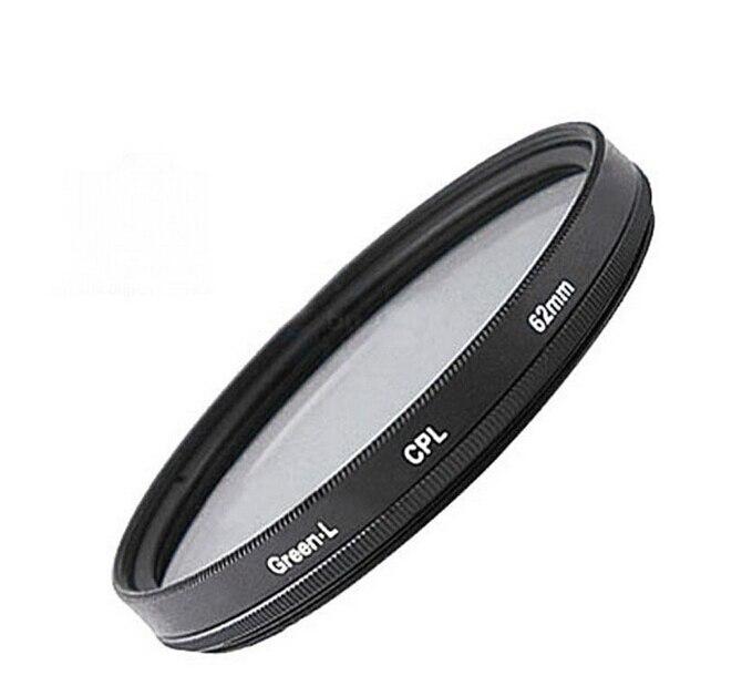 F08433 62mm circular polarizando lente de filtro vidro óptico cpl CP-L C-PL para dc/dv/dslr/slr câmera digital