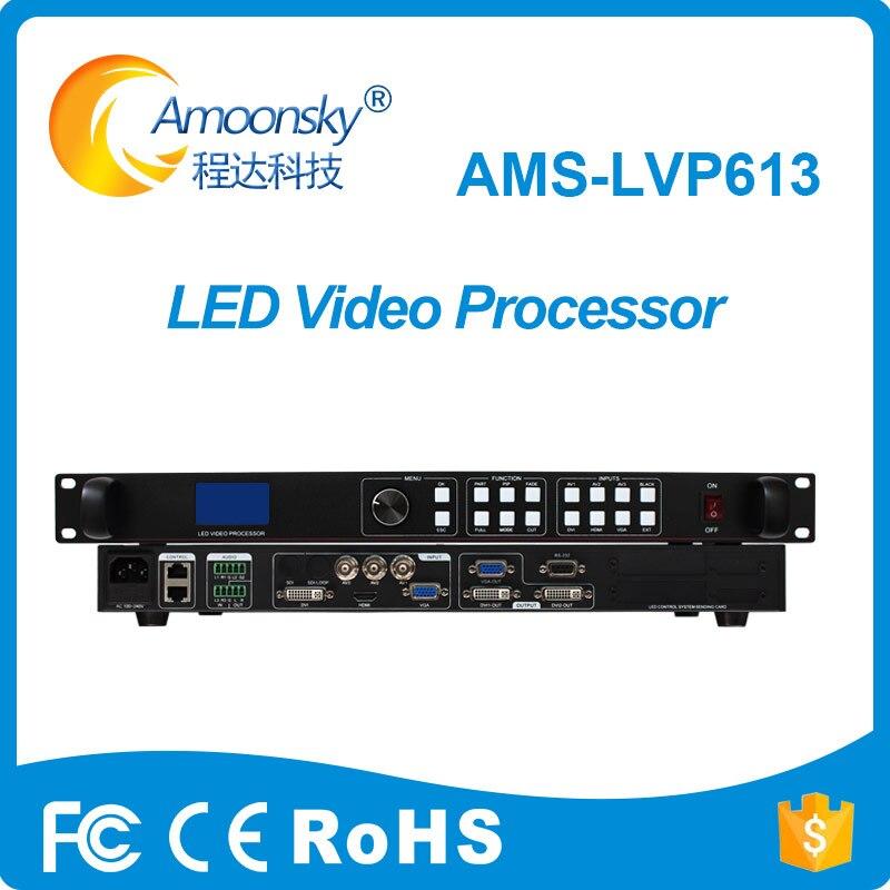 Ams-lvp613 led processador de vídeo parede suporte linsn novastar colorlight envio cartão para exibição matriz de ponto cor cheia ao ar livre