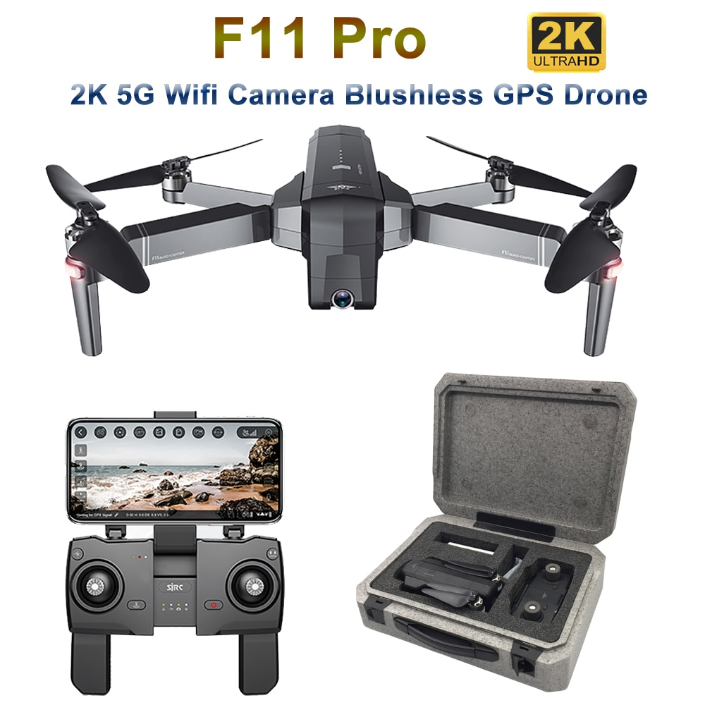 Dron SJRC F11 Pro GPS con cámara de gran angular 2K 5G Wifi 500m FPV Quadcopter sin escobillas 28 minutos de vuelo RC Drone VS SG906 B4W