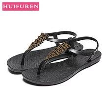 Women Beach Sandals 2019 Brand Summer Shoes Woman Flat Slides Fashion Flip Flops Female Slip On Sandals Female Sandalias Mujer