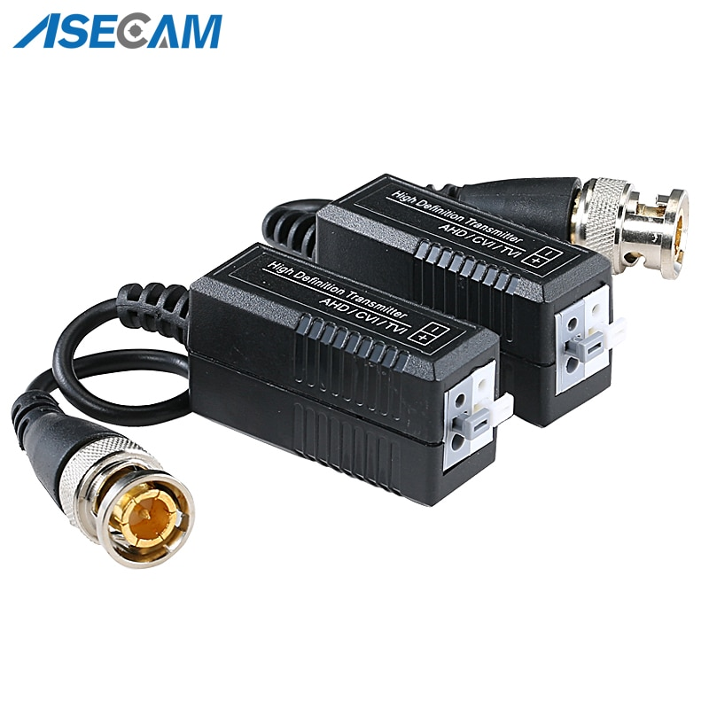 High quality BNC to UTP Cat5/5e/6 Video Balun HD Transceivers Adapter Transmitter Support 1080P 4MP 5MP AHD CVI TVI Camera 200M enlarge