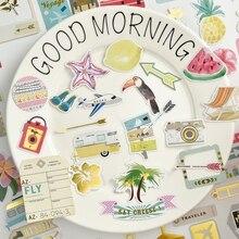 KSCRAFT-découpe de carte de voyage   65 pièces, découpe pour Scrapbooking, agenda heureux/fabrication de cartes/projet journement